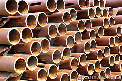 Rusty pipe texture