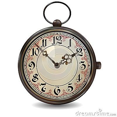 Rusty Pocket Watch Stock Vector Image 43116098