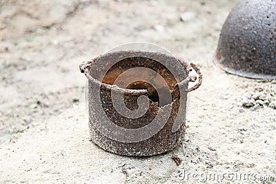 Rusty pot