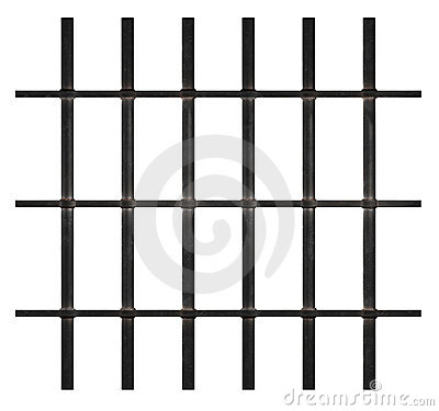 Free Rusty Prison Bars Royalty Free Stock Photography - 13892357