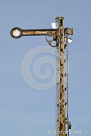 Free Rusty Railroad Semaphore Stock Photos - 9657283