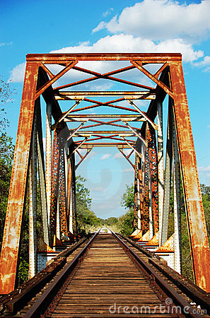 Free Rusty Railroad Tracks Stock Photo - 23267820