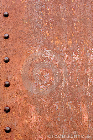 Free Rusty Riveted Steel Background Royalty Free Stock Photos - 1800428
