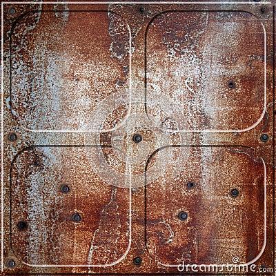Rusty rivets plate