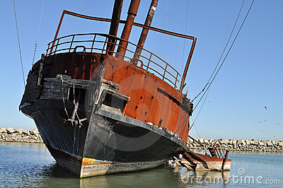 Rusty sailing ship