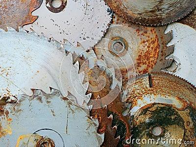Rusty sawblades