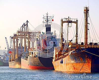Rusty Ships at Kaohsiung Harbor