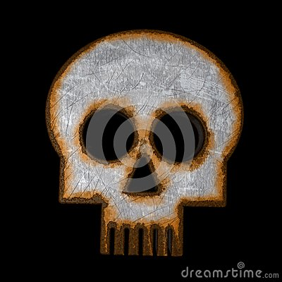 Rusty skull symbol
