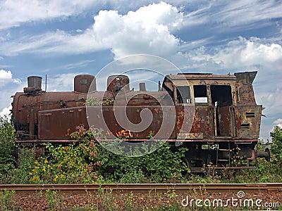 Rusty steam locomotive