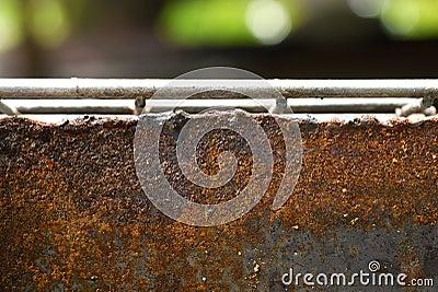 The rusty steel