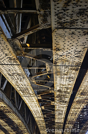 Rusty steel bridge