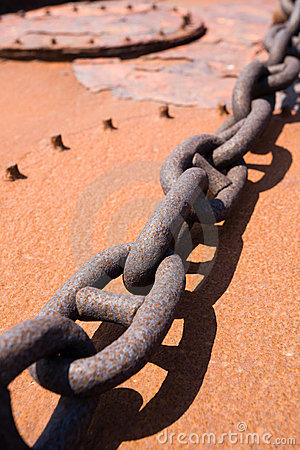 Rusty steel chain