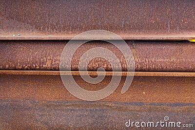 Rusty steel girders