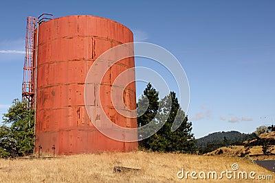Rusted storage tank