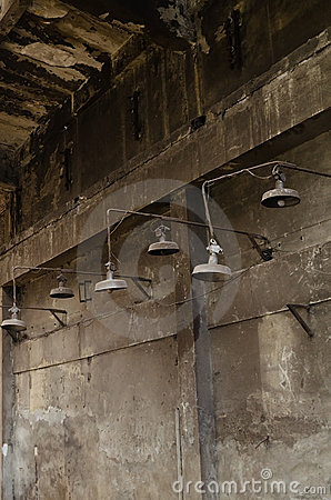 Rusty warehouse lamps