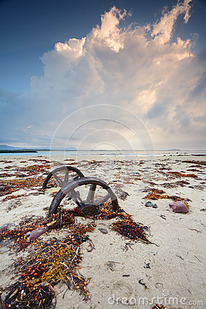 Free Rusty Wheels In The Sand Royalty Free Stock Photo - 68434975