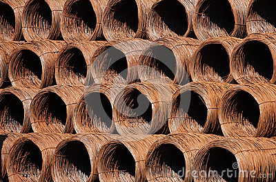 Rusty wire coils