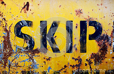 Rusty yellow skip