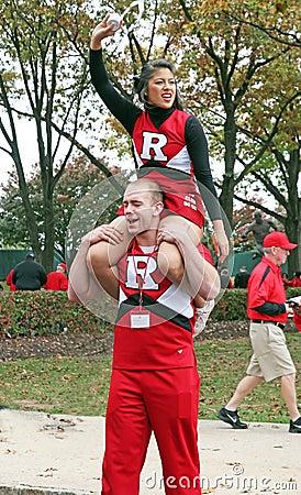 Rutgers Cheerleaders Editorial Photography