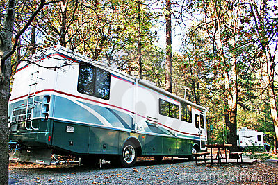 RV Campsite in the Forest