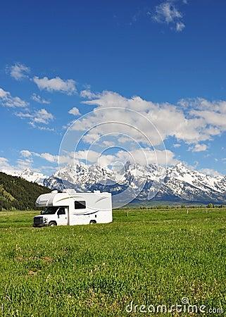 RV in Grand Teton National Park