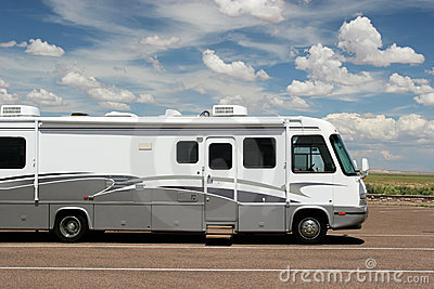 RV on open road