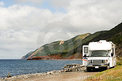 RV at picnic area
