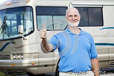 RV Senior Man - Thumbs Up