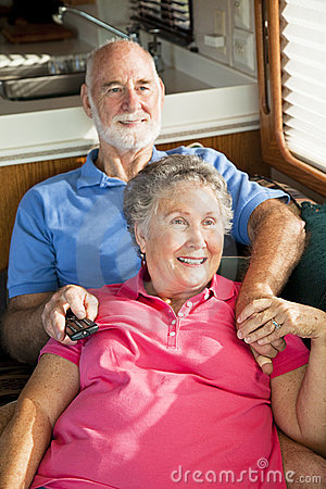 RV Seniors Watching TV