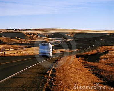 Rv Travelling Down The Hiway
