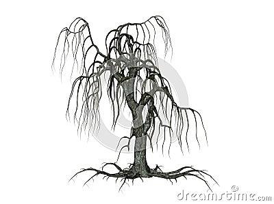 Árvore com filiais deixando cair