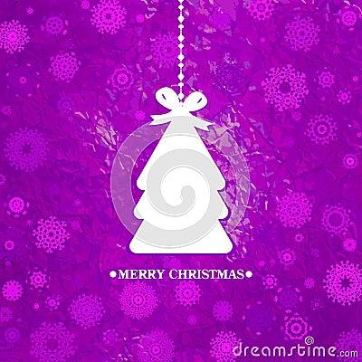 Árvore de Natal azul decorada. EPS 8