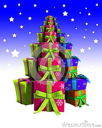 Árvore de Natal dos presentes