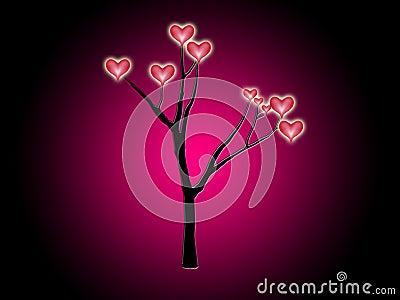 Árvore dos corações