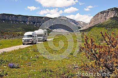RVs in wilderness