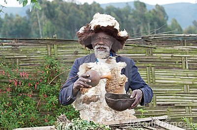 Rwandan medicine man Editorial Stock Photo