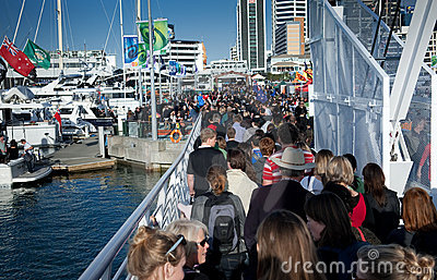 RWC 200,000 Crowd Auckland Waterfront Editorial Stock Image