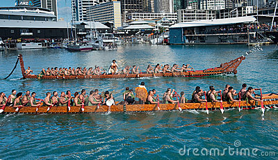 RWC Opening - Waka Auckland Waterfront Editorial Photography
