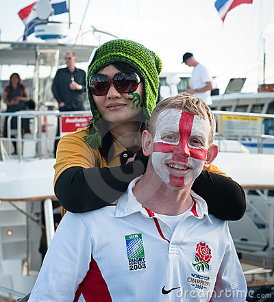 RWC Patriotic Fans Crowd Auckland Waterfront Editorial Photography