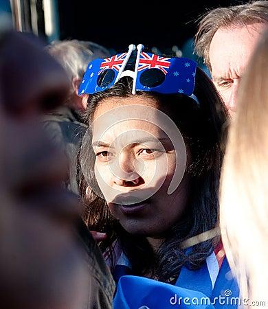 RWC Patriotic Fans Crowd Auckland Waterfront Editorial Photo