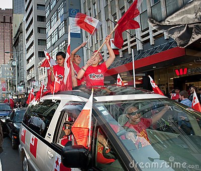 RWC Tongan Fans Go Wild Editorial Photo