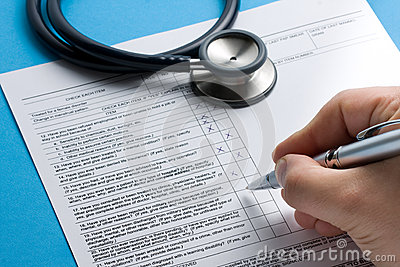 Rx Patient Info Hand Writing Pen Stethoscope