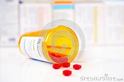 RX prescription drug bottle
