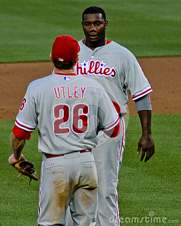 Ryan Howard and Chase Utley Phillies Editorial Stock Photo