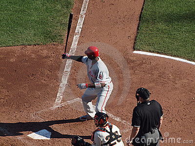 Ryan Howard holds bat in the air Editorial Photography