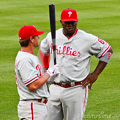 Ryan Howard and Kevin Fransden Phillies Editorial Photo