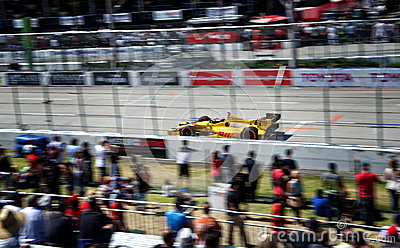 Ryan Hunter-Reay at the Toyota Grand Prix of Long Beach Editorial Image