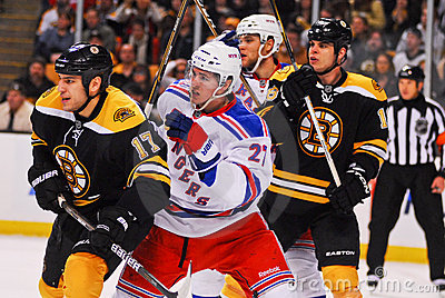 Ryan McDonagh v. Milan Lucic Editorial Photo