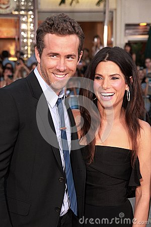 Ryan Reynolds,Sandra Bullock Editorial Image