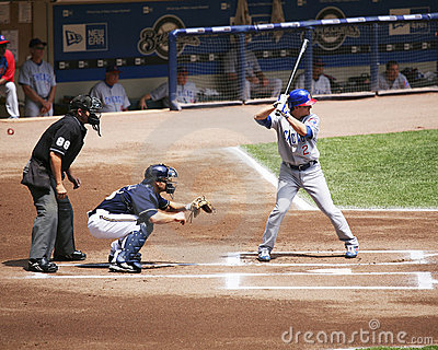Ryan Theriot batting Editorial Stock Photo
